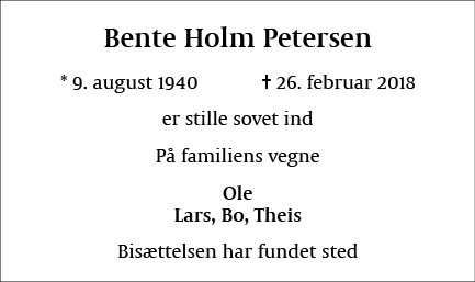 Bente Holm Petersen