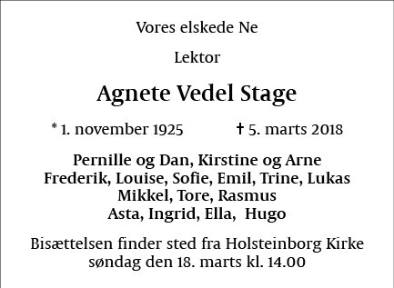Agnete Vedel Stage