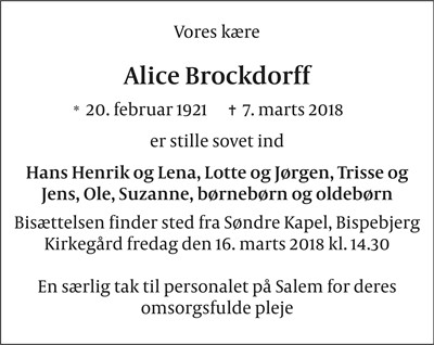 Alice Brockdorff