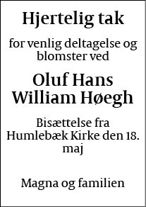 Oluf Hans William Høegh