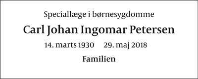 Carl Johan Ingomar Petersen