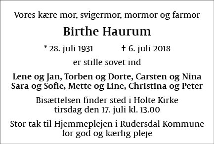Birthe Haurum