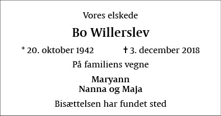 Bo Willerslev