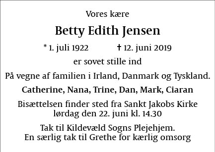 Betty Edith Jensen
