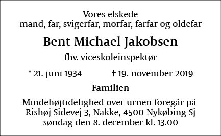 Bent Michael Jakobsen