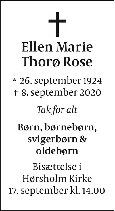 Ellen Marie Thorø Rose