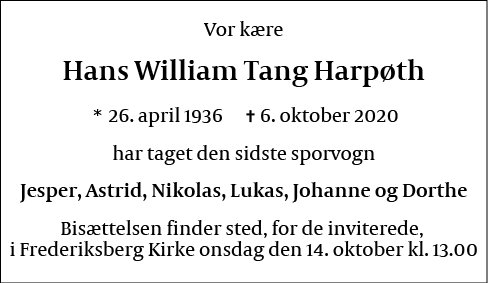 Hans William Tang Harpøth
