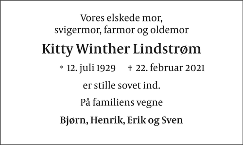 Kitty Winther Lindstrøm