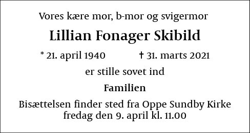 Lillian Fonager Skibild